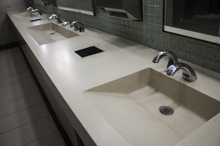 Exceptional Concrete Ramp Sinks For Restrooms