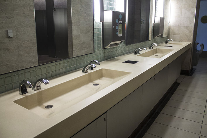 Concrete Ramp Sinks For Restrooms